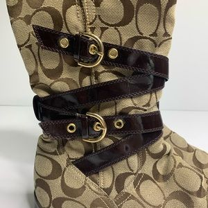Coach Shoes - Coach belted logo tall boots size 9